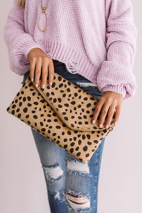 Concrete Catwalk Cheetah Clutch