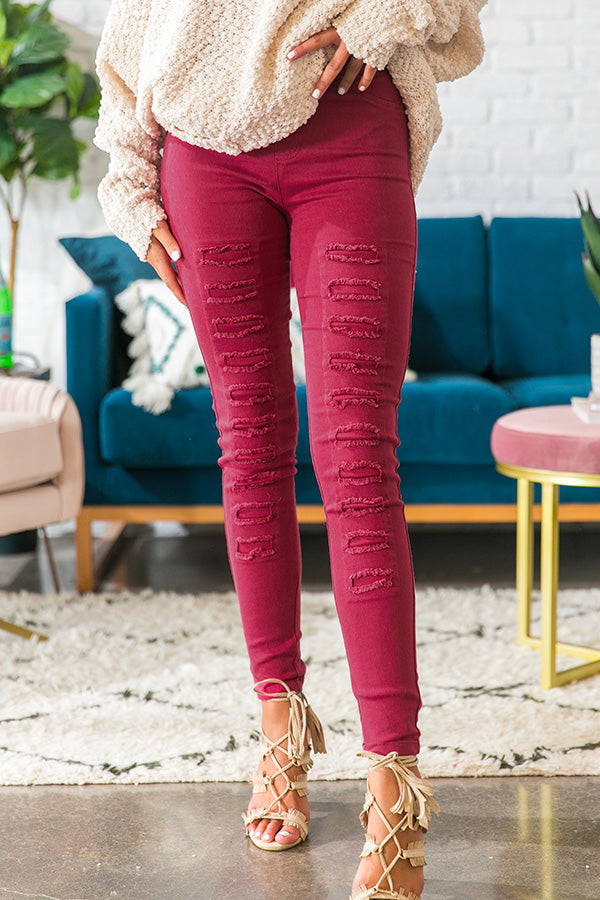 The Hollis High Waist Legging In Sangria