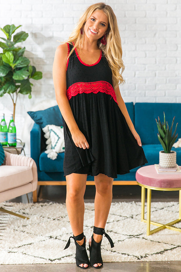 Cheers To The Weekend Babydoll Dress In Black