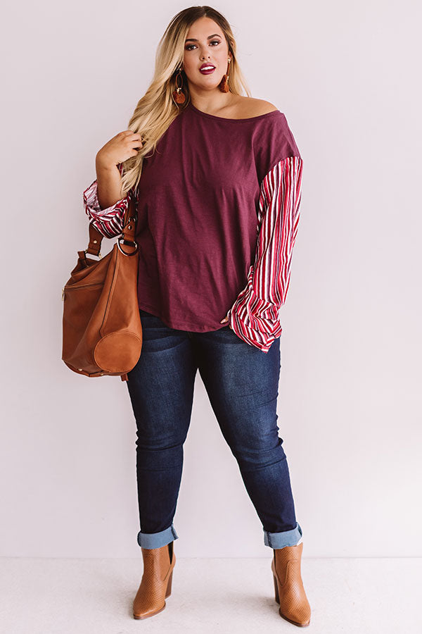 Hamptons Happy Hour Shift Top In Maroon