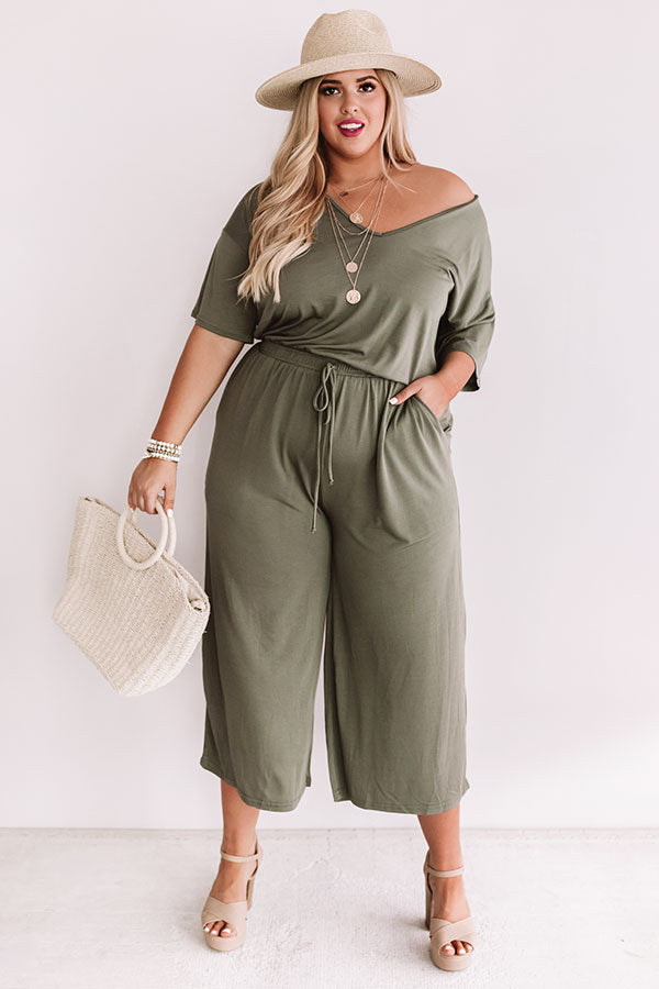 Shopping In Chardonay Jumpsuit