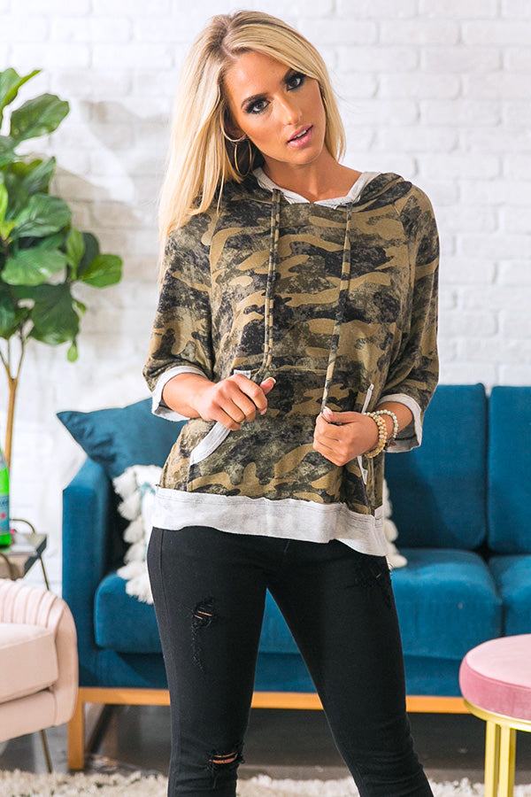 Don't Sweat The Small Stuff Camo Top