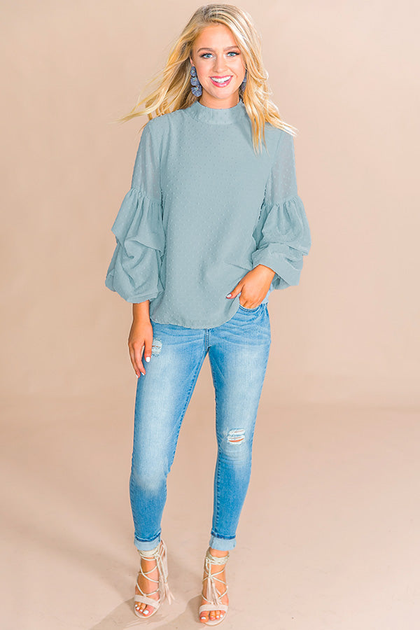 Lattes and Luxury Shift Top in Light Pear