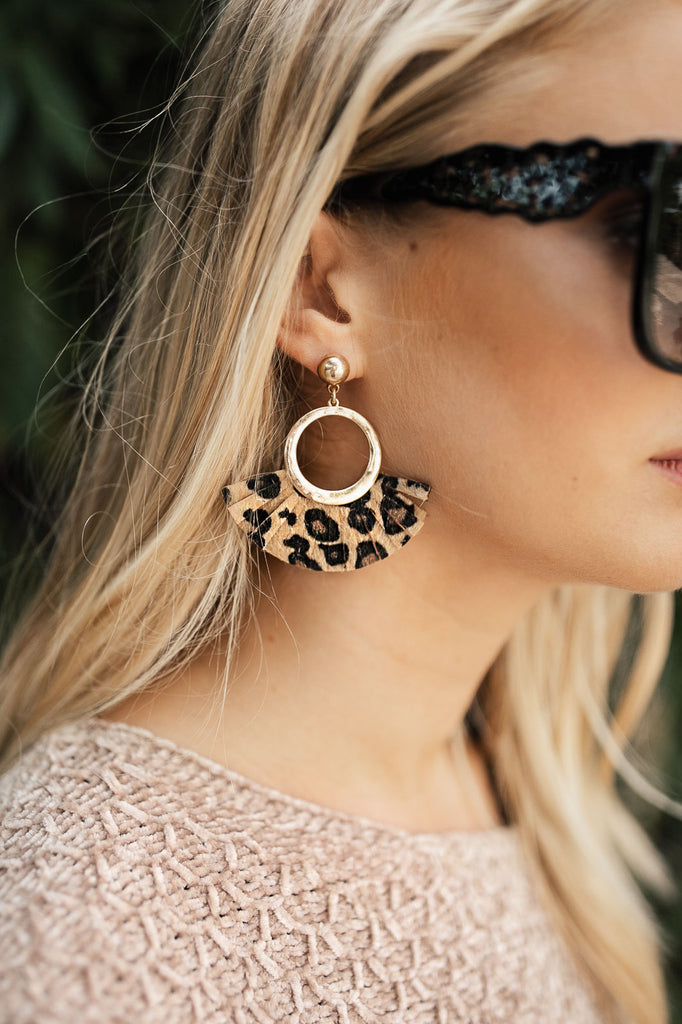 Fifth And Chic Leopard Earrings