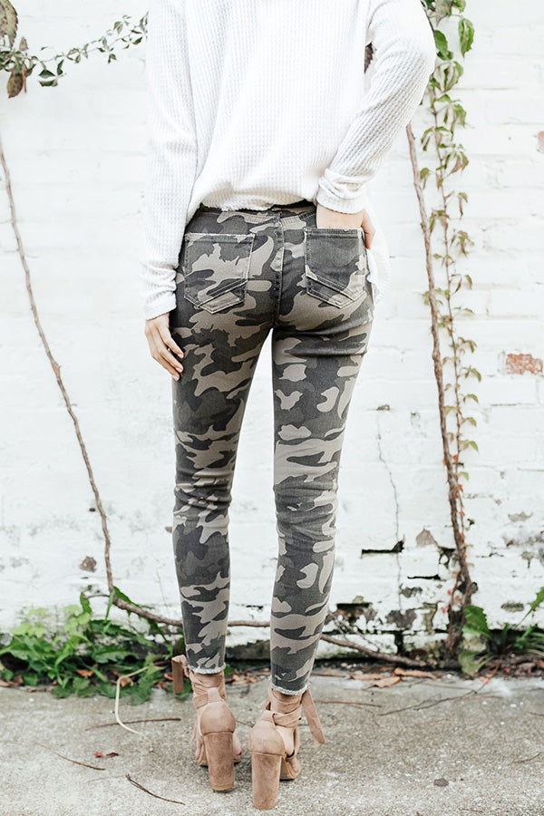The Rory High Waist Camo Skinny