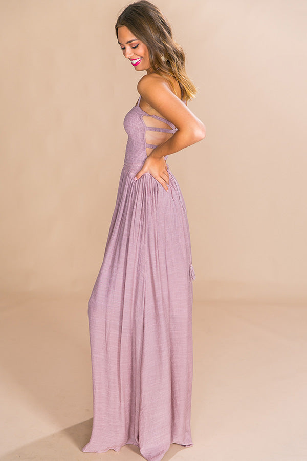 Making Headlines Maxi Dress in Blush
