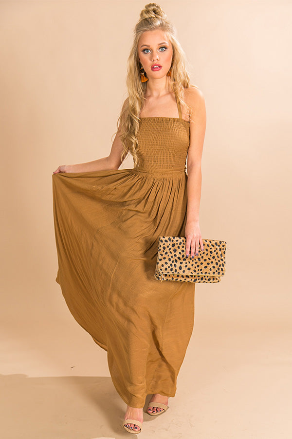 Making Headlines Maxi Dress in Copper