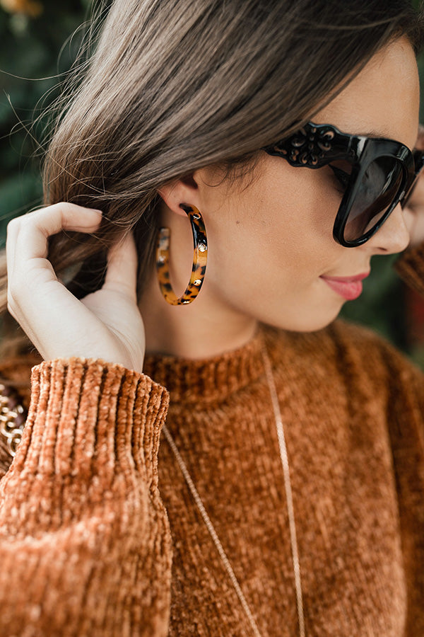 Star Studded Event Earrings In Tortoiseshell