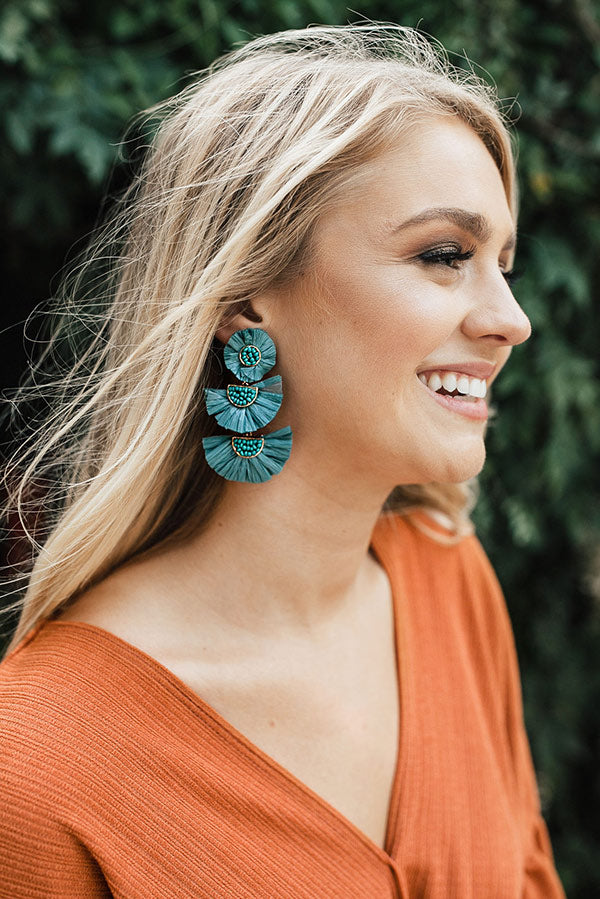Paris Lights Earrings In Teal