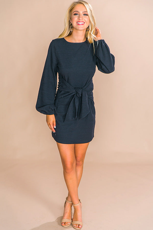 Feeling Flirty Front Tie Dress