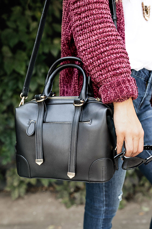 Posh In Paris Tote In Black