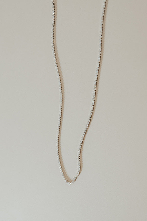 Backstage Bound Necklace In Silver