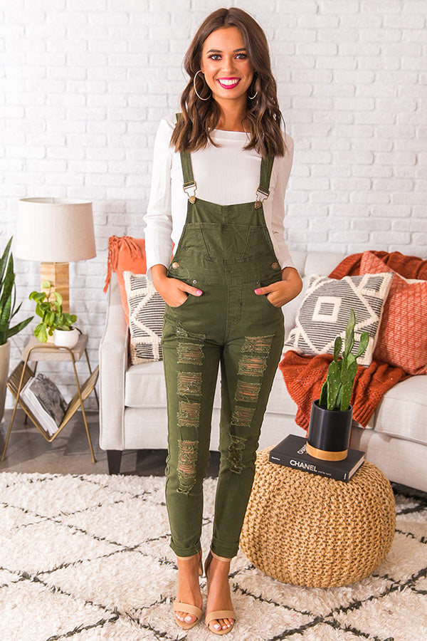 Campus Crush Distressed Overall