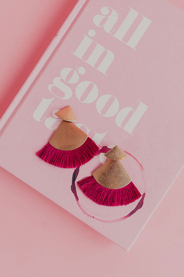 Sparks Will Fly Earrings In Fuchsia
