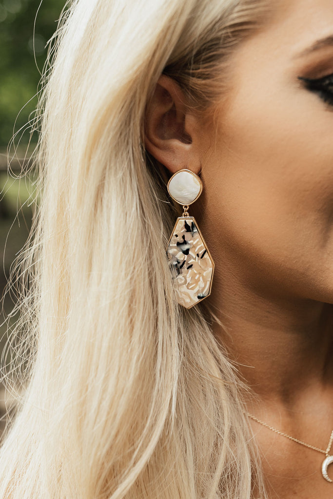 VIP After Party Earrings In Cream