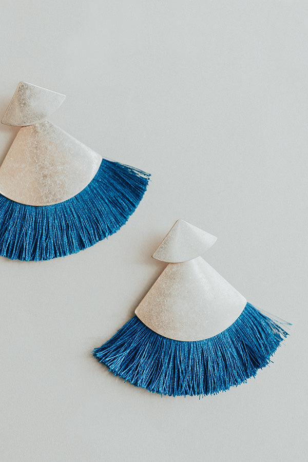 Sparks Will Fly Earrings In Lapis Blue