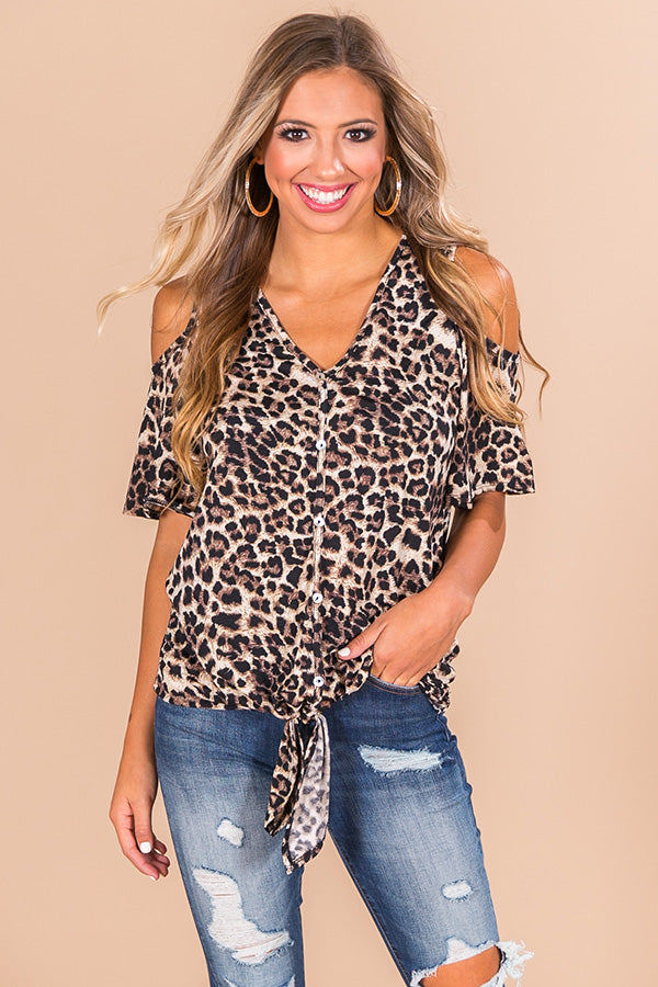 Midtown Moment Leopard Top