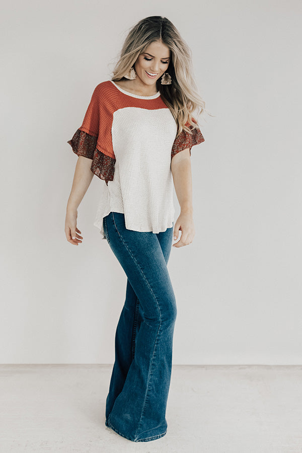 Butterfly Kisses Shift Top in Aurora Red