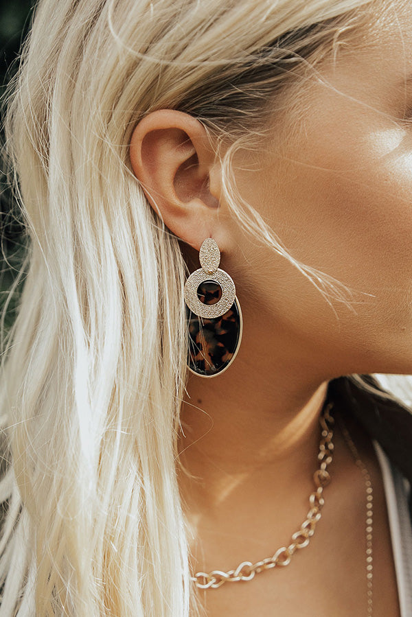 Beyond Beautiful Earrings In Brown