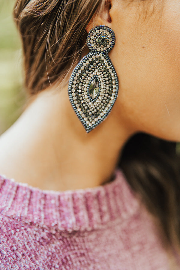 Bling It On Earrings In Lapis Blue