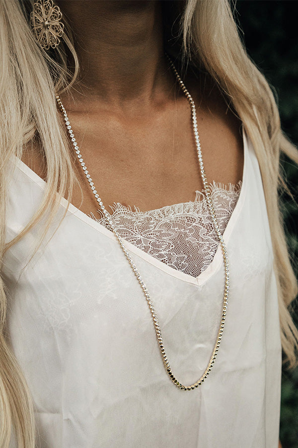 Backstage Bound Necklace In Gold