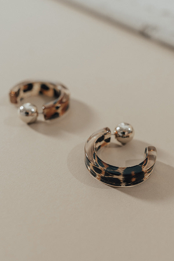 Broadway Luxe Leopard Hoop Earrings