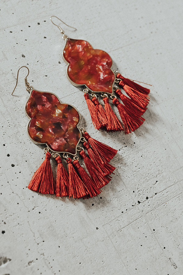 Completely Mesmerized Earrings In Red