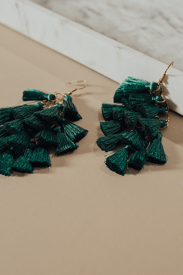 Tassel Talk Earrings in Forest