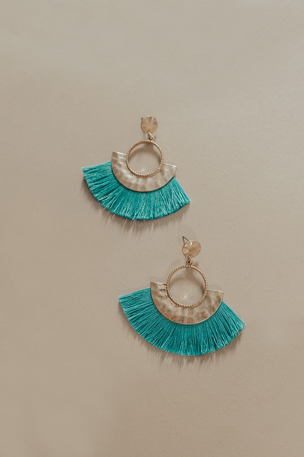 Fan Favorite Earrings in Aqua