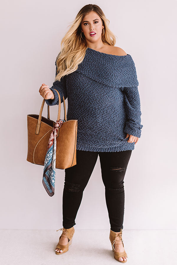 Manhattan Mornings Tunic Sweater in Slate