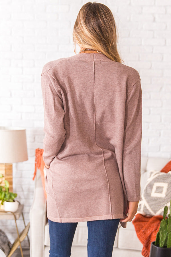 Colorado Crushing Cardigan In Taupe