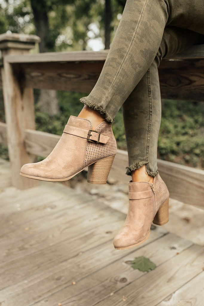 The Laney Faux Suede Bootie