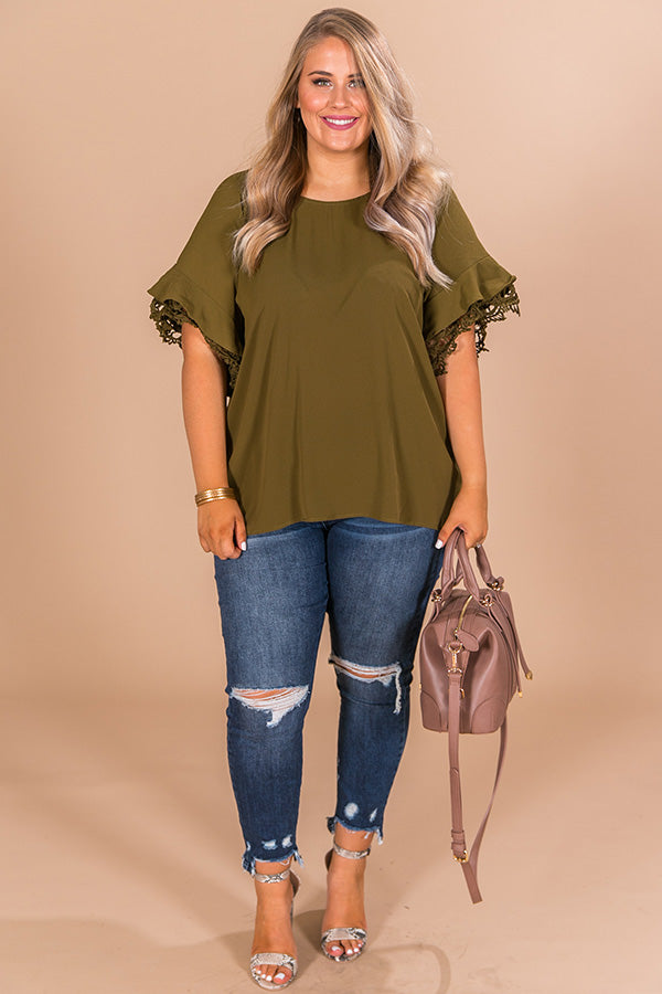 Makin' A Statement Shift Top in Olive