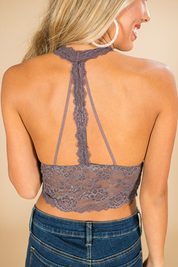 Stay Swanky Lace Brami in Heirloom Lilac