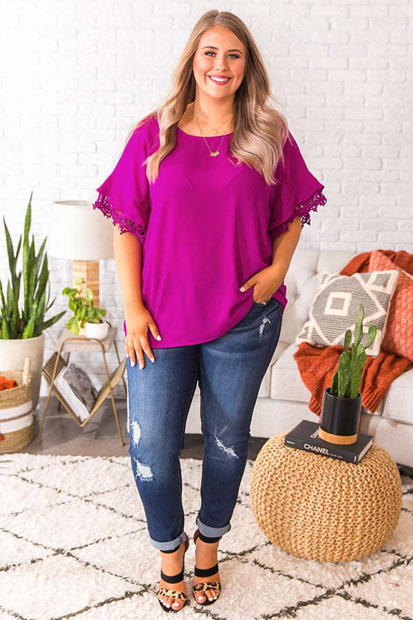 Makin' A Statement Shift Top in Orchid