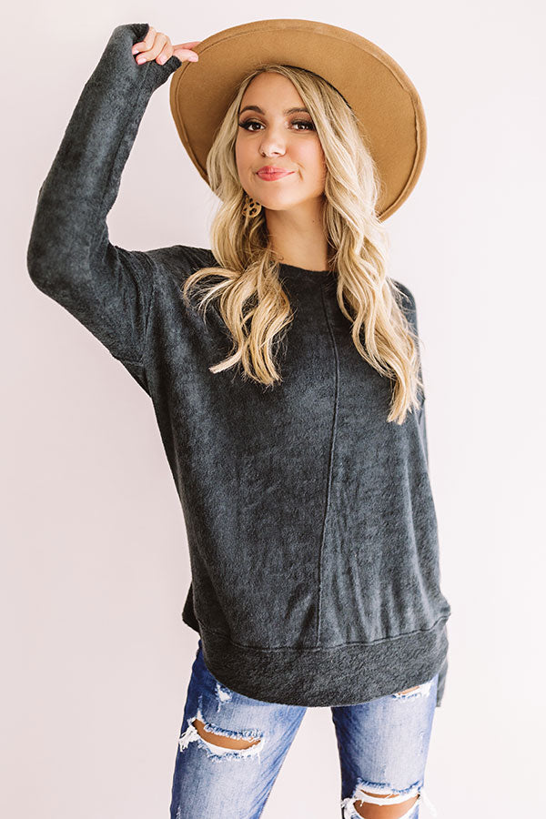 Bonfire Nights Sweatshirt in Black