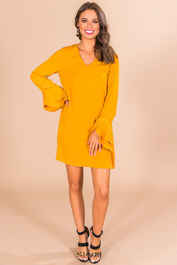 London Happy Hour Shift Dress in Honey