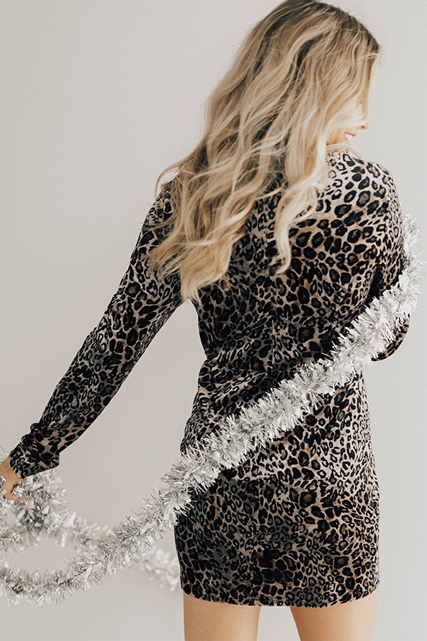 Livin' Luxury Leopard Velvet Dress