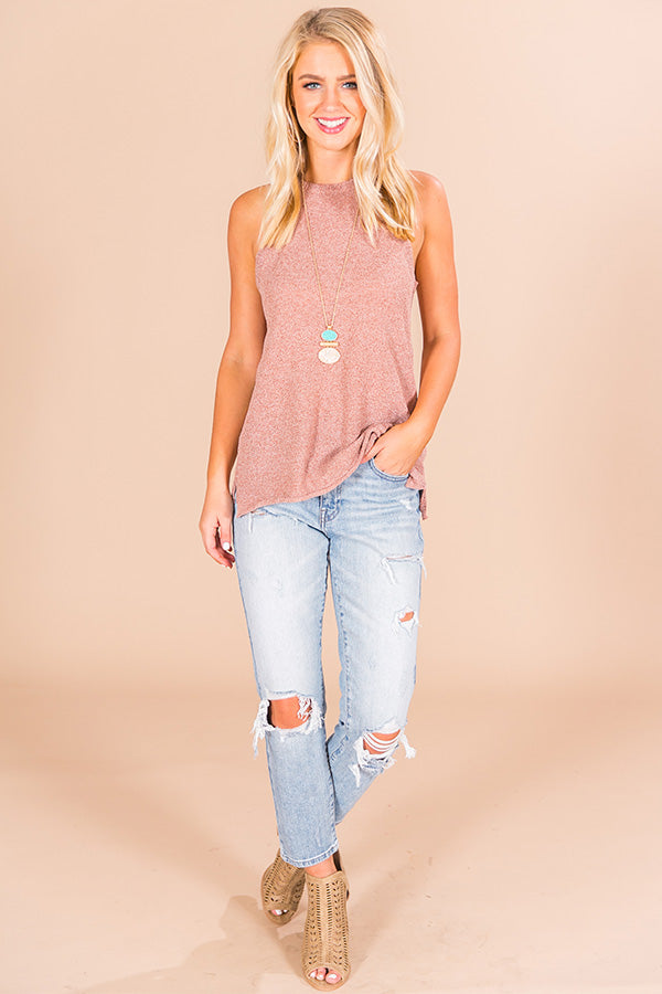 Whatever Knit Takes Tank in Blush