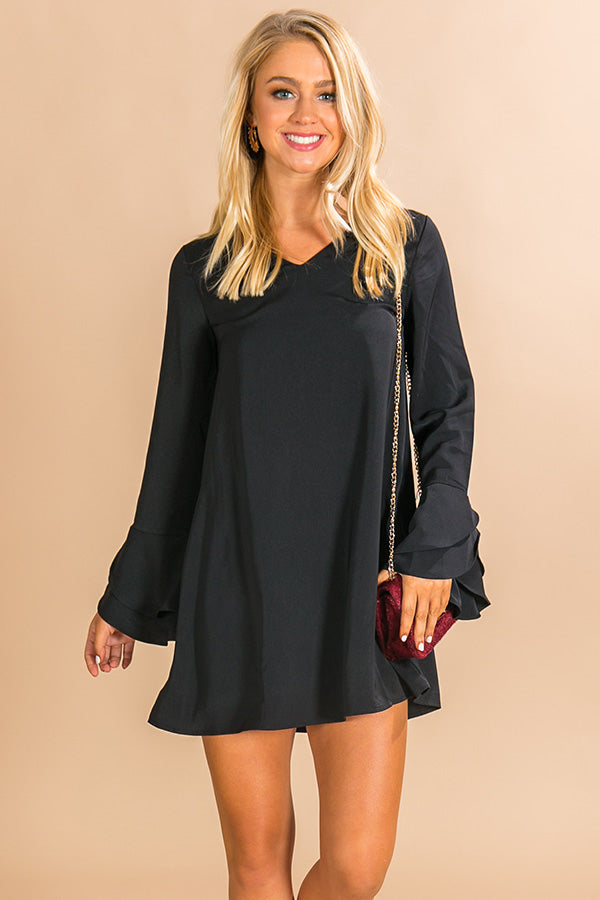 London Happy Hour Shift Dress in Black