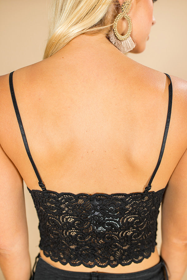 For Chic Times Lace Brami In Black