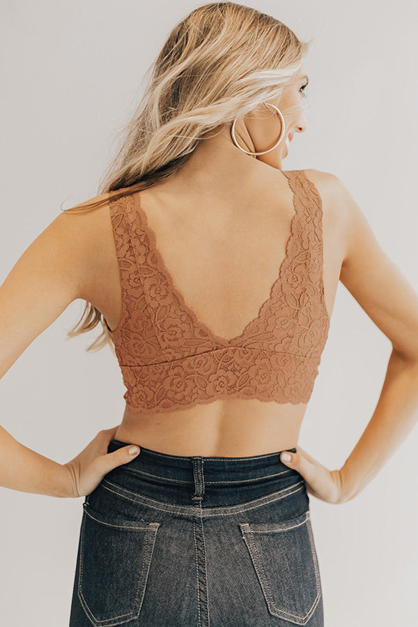 London Lace Bralette in Rustic Rose