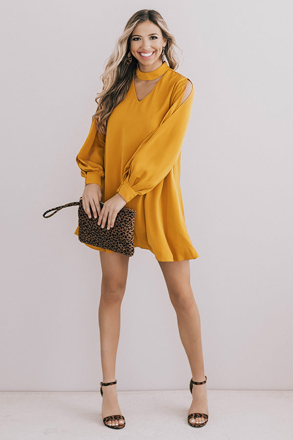 Breckenridge Beauty Shift Dress In Honey