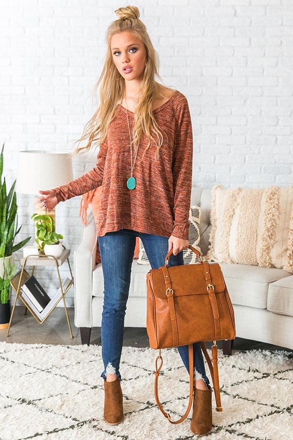 Mules In Manhattan Shift Top In Cinnamon