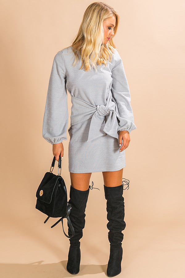 Pinot In Colorado Sweater Dress In Grey