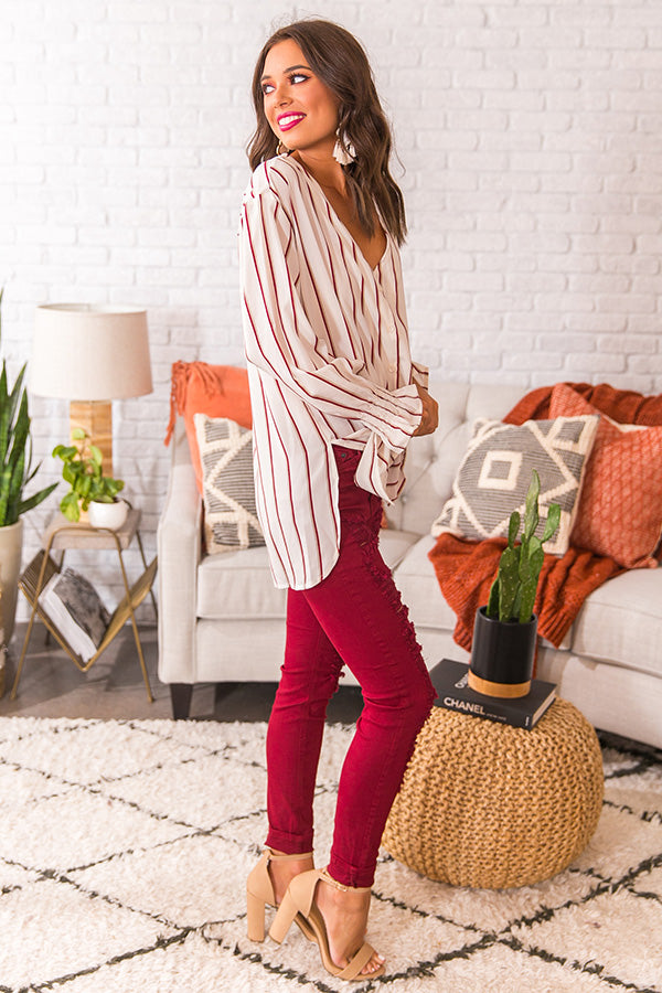 VIP Status Stripe Top