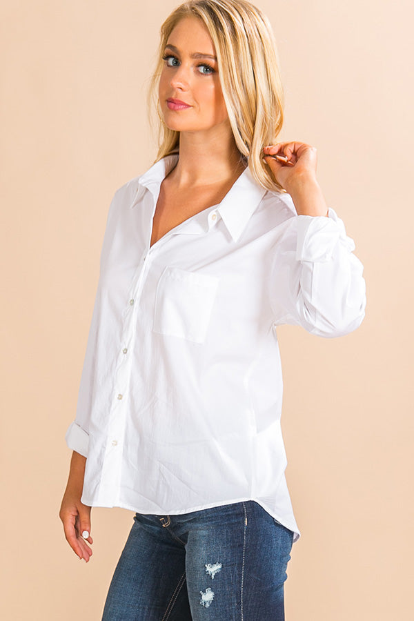Espresso Run Button Up Top