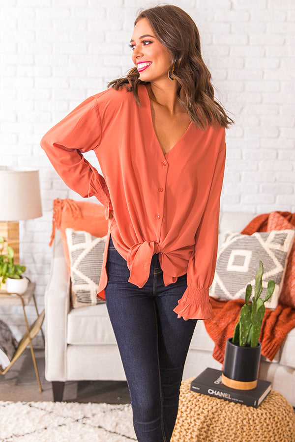 Blogger Bombshell Shift Top In Peach