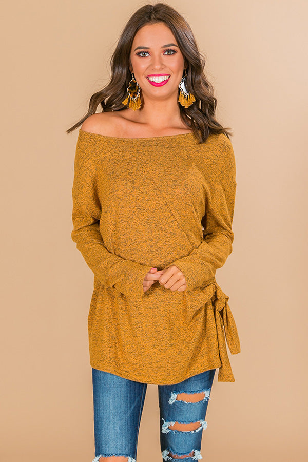 Cabinside Cocoa Shift Top In Mustard