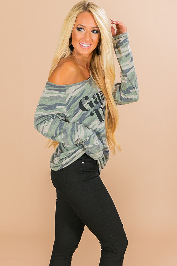 Game Day Sweatshirt in Camo